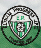 Eltham Progress Football Club match worn shirt London England
