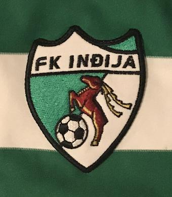 Sérvia. Camisola de jogo. FK Indija, ????????? ???? ??????, Fudbalski Klub Indija