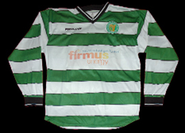 green white hooped jersey Foyle Harps YFC Derry Northern Ireland