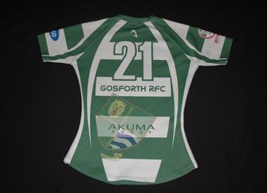 Gosforth RFC camisola de rugby usada em jogo, da Inglaterra