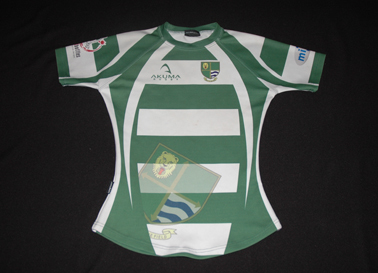 Gosforth RFC England, match worn rugby jersey, with the roaring lion proudly on the fabric