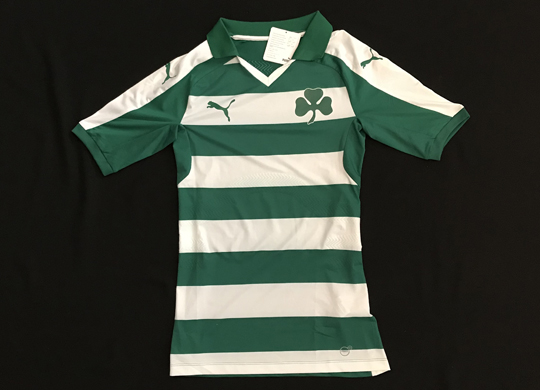 Football shirt of Panathinaikos Athens, from Greece