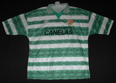 Match worn jersey from one of the oldest foreign sports clubs in Germany