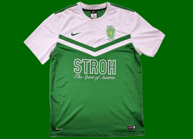 Jersey of Sporting Lesbians Football Club team. Stroh sponsor