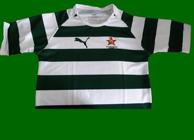 2017. Camisola da seleção de Rugby do Zimbabwe