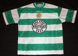 Donegal Celtic Football Club shirt England