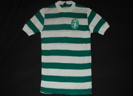 1970s. Vintage Sporting Lisbon shirt made by the still existing sports house King Sport of Espinho