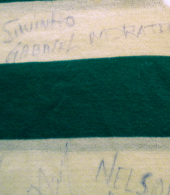 Sporting Lisbon 1986/87 child jersey, signed by the team