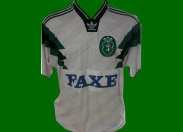 Sporting 2017. Camisola retro modelo Adidas Faxe alternativo 1993/94