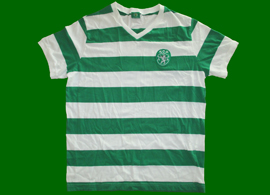 Sporting Lisbon shirt, made in cotton, reproduction of old shirt