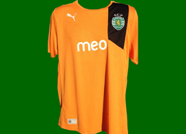 New away Sporting Lisbon jersey for 2012/13. In amazing orange!