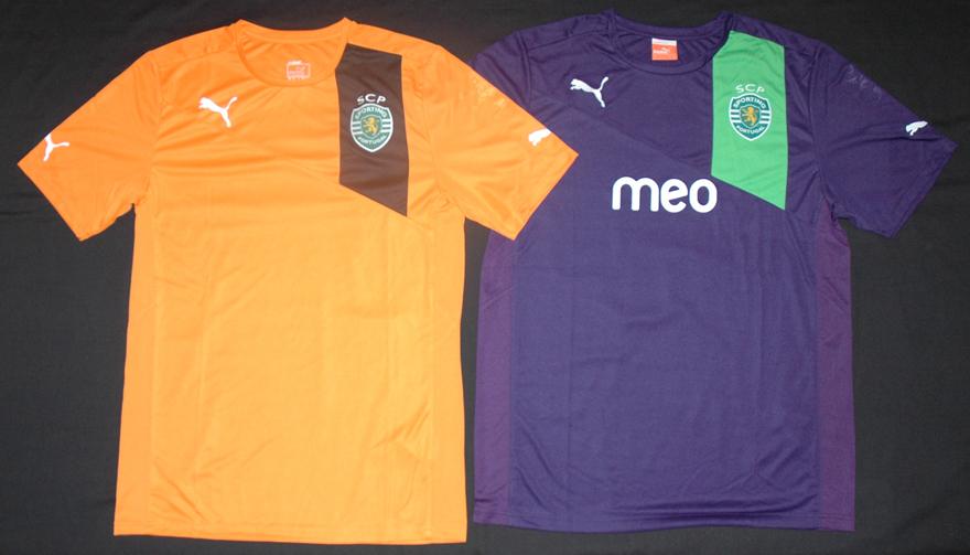 Protótipos player issue do Sporting em 2012/13, laranja e violeta