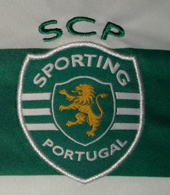 Home Sporting Lisbon 2012/13 jersey, player issue without sponsor, model worn in the national competitions with hoops on the back