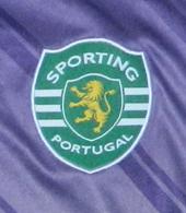 2011/2012. Equipamento alternativo protótipo roxo/verde de mangas curtas