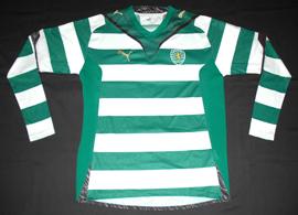 Sporting Lisbon prototype shirts 2009/10. Puma sample
