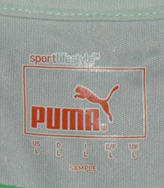 Longsleeved white away jersey, Puma sample