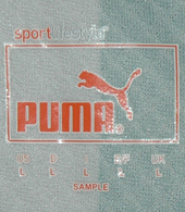 Sromp jersey (green white split), longsleeves. This is a very rare Puma sample
