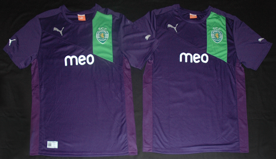 Protótipo roxo camisola do Sporting violeta alternativa 2012/13