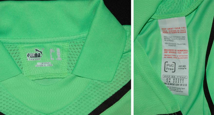 camisola verde fluorescente de 2009/10