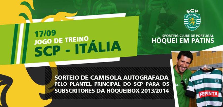 O anúncio do sorteio de camisola pelos detentores da gamebox hóquei em patins Sporting 2013