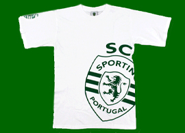 T-shirt casual do Sporting 2011 2012