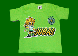 Children jersey of the official Sporting pet, the lion Jubas
