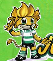 T-shirt para criança do Jubas, a mascote do Sporting